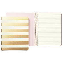 Buy kate spade new york Gold Stripe Spiral Notebook Online at johnlewis.com