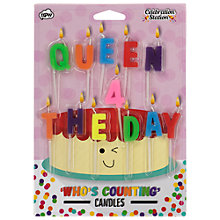 Buy NPW Queen 4 The Day Birthday Candles Online at johnlewis.com