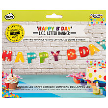 Buy Npw LED Happy Birthday Banner Online at johnlewis.com
