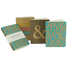 Buy Go Stationery Typo Notebooks, Set of 3 Online at johnlewis.com