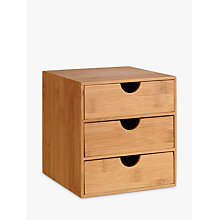Buy John Lewis 3-Drawer Chest, Bamboo Online at johnlewis.com