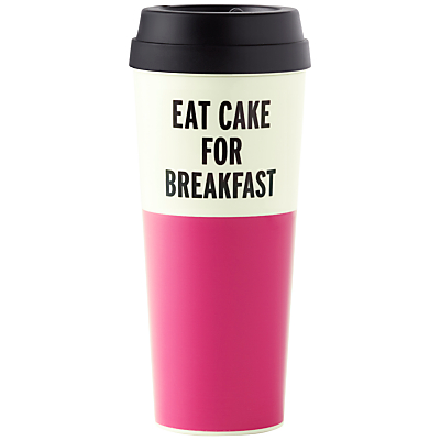 kate spade new york 'Eat Cake for Breakfast' Thermal Mug