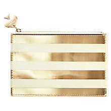 Buy kate spade new york Gold Stripe Pencil Pouch Online at johnlewis.com