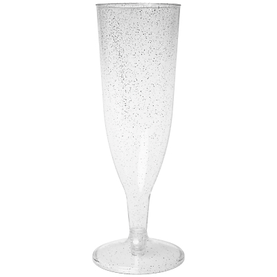 Duni Disposable Glitter Champagne Flutes