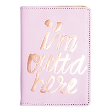 Buy Ban.do Passport Holder, I'm Outta Here Online at johnlewis.com