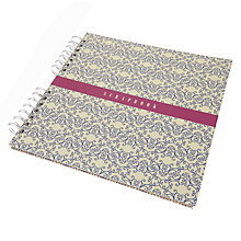 Buy John Lewis Flowers Scrapbook, Blue/White Online at johnlewis.com