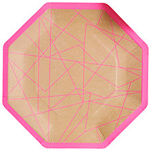 Buy Ginger Ray Neon Plates, Pack of 8 Online at johnlewis.com