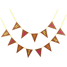 Buy Ginger Ray Neon Happy Birthday Bunting Online at johnlewis.com