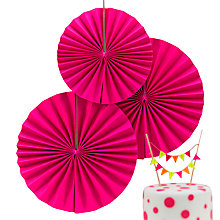 Buy Ginger Ray Neon Pinwheel Hanging Decorations, Set of 3 Online at johnlewis.com