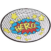 Buy Ginger Ray Pop Art Hero Plates, Pack of 8 Online at johnlewis.com