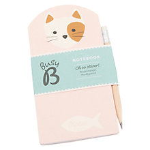 Buy Busy B Kitty Notebook and Pencil Online at johnlewis.com