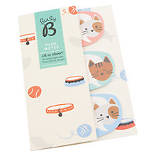 Buy Busy B Kitty Sticky Notes Online at johnlewis.com