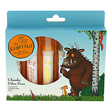 Buy Gruffalo Chunky Fibre Pens, Pack of 6 Online at johnlewis.com