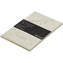 Buy John Lewis Script Writing Paper, A5, 40 Sheets, Plain Ivory Online at johnlewis.com