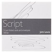 Buy John Lewis Laid Cards and Envelopes, White, Set of 5 Online at johnlewis.com