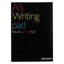 Buy John Lewis A5 Pad, 50 Sheets Online at johnlewis.com