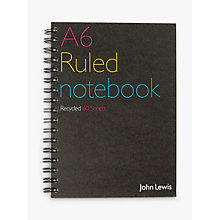 Buy John Lewis Recycled Spiral Bound Notebook A6, 60 Sheets Online at johnlewis.com