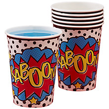 Buy Ginger Ray Pop Art Kaboom Cups, Pack of 8 Online at johnlewis.com