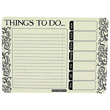 Buy Emma Bridgewater To Do List Notepad, Black Online at johnlewis.com