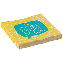 Buy Happy Jackson Yum Paper Napkin, Pack of 20 Online at johnlewis.com