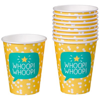 Happy Jackson Whoop Whoop Party Cup, Pack of 10