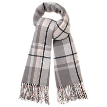 Buy Studio 8 Check Scarf, Charcoal/Pink Online at johnlewis.com