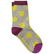 Buy White Stuff Large Spot Socks, Pack of 1, Grey/Multi Online at johnlewis.com