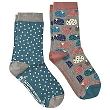 Buy White Stuff Sheep Spot Socks, Pack of 2, Multi Online at johnlewis.com