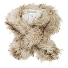 Buy Chesca Fur Scarf, Cream Online at johnlewis.com