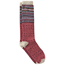 Buy White Stuff Fair Isle Wool Blend Socks, Pack of 1, Pink Online at johnlewis.com