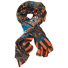 Buy Chesca Ethnic Print Silk Scarf, Multi Online at johnlewis.com