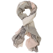 Buy Chesca Ombre Mosaic Scarf, Pink/Cream Online at johnlewis.com