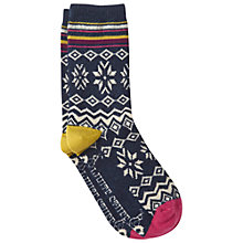 Buy White Stuff Snowed In Socks, Navy Online at johnlewis.com