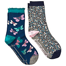 Buy White Stuff Butterfly Spot Socks, Pack of 2, Multi Online at johnlewis.com