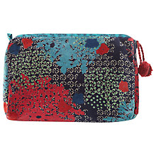 Buy White Stuff Floral Velvet Wash Bag, Navy Online at johnlewis.com