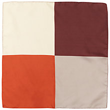 Buy Jaeger Silk Colourblock Pocket Square, Multi Bright Online at johnlewis.com