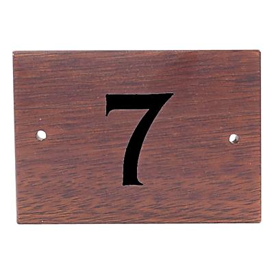 The House Nameplate Company Personalised Iroko Wood House Number, 1 Digit, Black