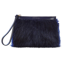 Buy Karen Millen Faux Fur Pochette Clutch Bag Online at johnlewis.com