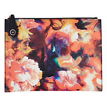 Buy Karen Millen Beautiful Blurred Floral Print Pochette, Multi Online at johnlewis.com