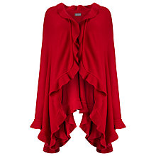 Buy Phase Eight Fiona Frill Wrap, Red Online at johnlewis.com