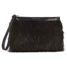 Buy Karen Millen Faux Fur Clutch Bag, Black Online at johnlewis.com