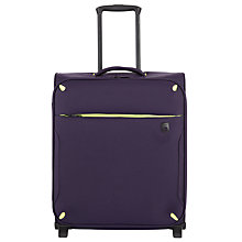 Buy Qubed Newpoint 2-Wheel Cabin Suitcase, Aubergine Online at johnlewis.com