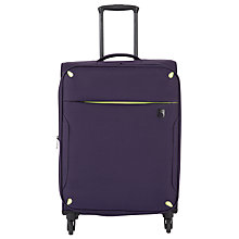 Buy Qubed Newpoint 4-Wheel Medium Suitcase, Aubergine Online at johnlewis.com