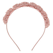 Buy John Lewis Fabric Flower Headband, Pink Online at johnlewis.com
