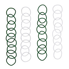 Buy John Lewis Mini Hair Bands, Pack of 16, Green Online at johnlewis.com
