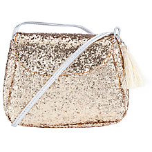 Buy John Lewis Girls' Sequin Bag, Gold Online at johnlewis.com