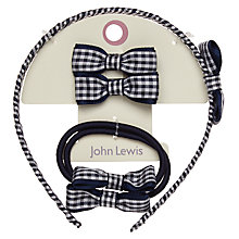 Buy John Lewis Gingham Hair Set, Pack of 5 Online at johnlewis.com