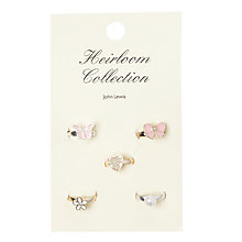 Buy John Lewis Heirloom Collection Flower Butterfly Ring Set, Pack of 5, Pink Online at johnlewis.com