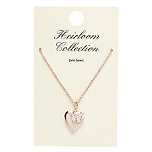 Buy John Lewis Heirloom Collection Girls' Heart and Butterfly Necklace, Gold Online at johnlewis.com