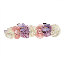 Buy John Lewis Flower Garland Elastic Headband, Multi Online at johnlewis.com
